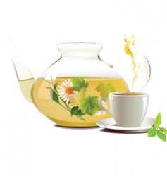 teapot vector image