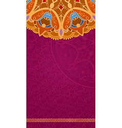 Ethnic vintage ornament greeting card vector