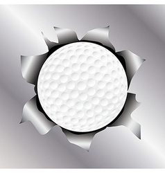 Golf thru metal sheet vector