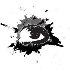 black eye vector image