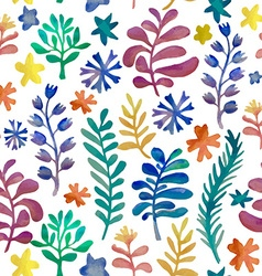 Watercolor floral collection awesome flower vector