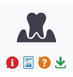 Parodontosis tooth sign icon dental care symbol vector