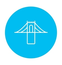 Bridge line icon vector