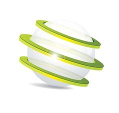 shiny ball Eco symbol vector image