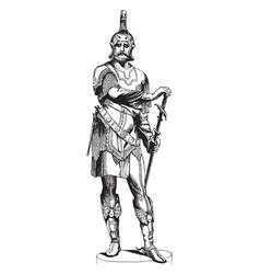 Armor figure was sculpted by austrian sculptor vector