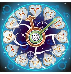 background zodiac vector image