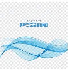 blue transparent wave vector image