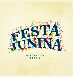 Brazilian holiday festa junina celebration party vector