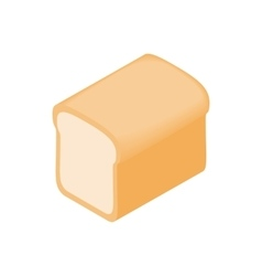 Bread icon isometric 3d style vector image