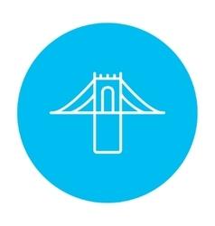 Bridge line icon vector