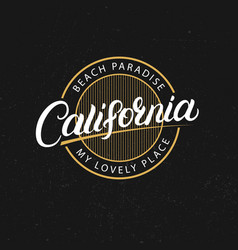 california hand written lettering vector image vector image