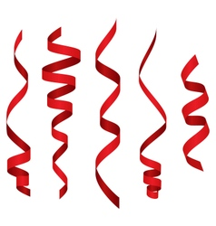 Celebration Curved Ribbons Variations Isolated on vector image vector image