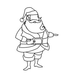character santa claus christmas outline vector image vector image