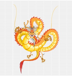 chinese gold dragon vector image vector image
