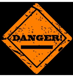 danger grunge label vector image