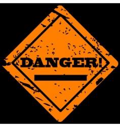 danger grunge label vector image vector image