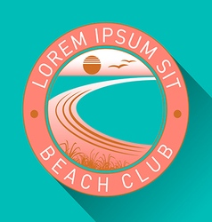 Generic beach logo vector