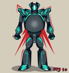 Grey Grunge Robot vector image vector image