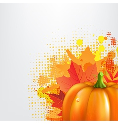 Grunge Background With Orange Pumpkin vector image vector image