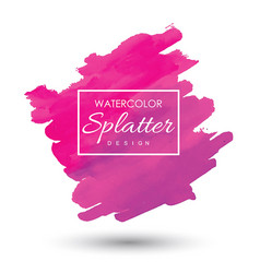 Hand drawn watercolor splatter designs vector