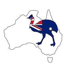 Kassowary Australia vector image