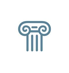 Letter t roman column logo icon design template vector