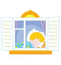 Little boy sleeping vector