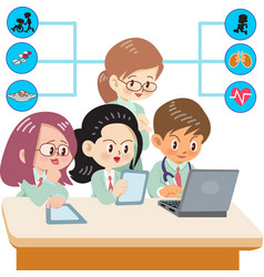 medical students vector image vector image