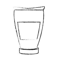 monochrome blurred silhouette with tube cream vector image
