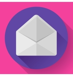 Open envelope mail icon new letter message vector
