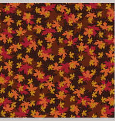 overlapping leaf pattern vector image vector image