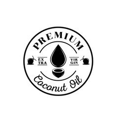 Premium coconut oil logo vector