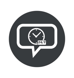 Round overnight daily dialog icon vector