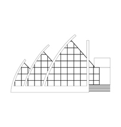 Sketch architecture building project vector