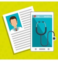 Smartphone stethoscope medical doctor vector