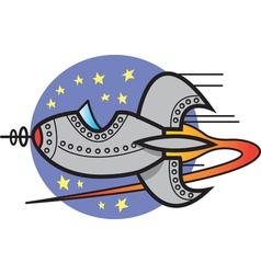 Spaceship logo vector image vector image