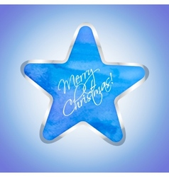Star with Merry Christmas text vector image vector image