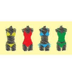 Swimsuit set vector