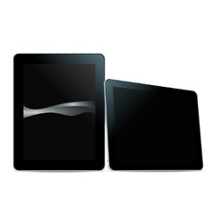 tablet pc black vector image vector image