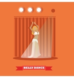Belly dance woman on stage concept poster vector