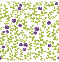 Seamless pattern with north berries vector