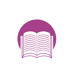 book learning school ico vector image