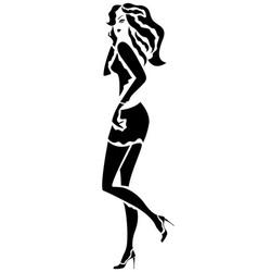 girl in a short skirt vector image