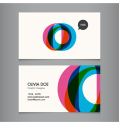 Business card template letter O vector image