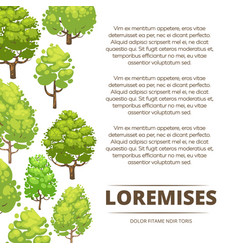 Abstract forest poster design - eco poster vector