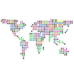 Color dots earth vector