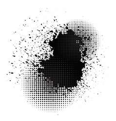 Ink blob vector