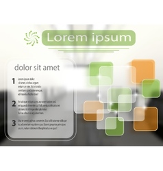 Business template with transparent layers vector