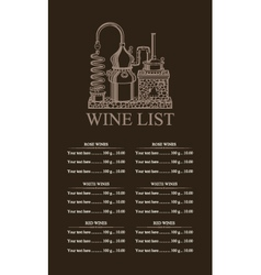 Wine list vector
