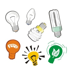 Bulbs set vector